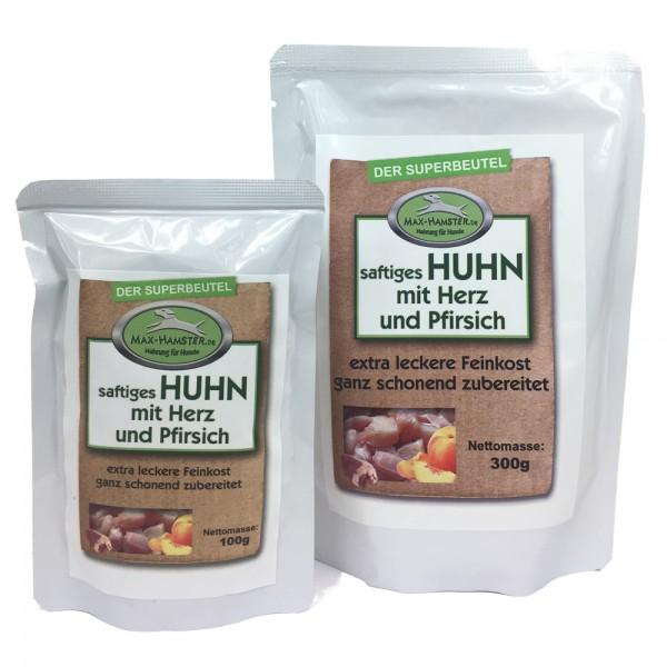 saftiges HUHN mit Herz und Pfirsich - Premium-Feinkost