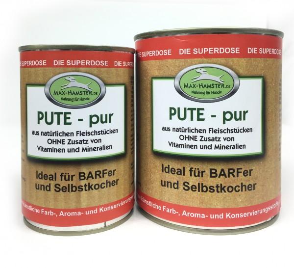 Pute - pur Premium Dosenfleisch OHNE Zusätze