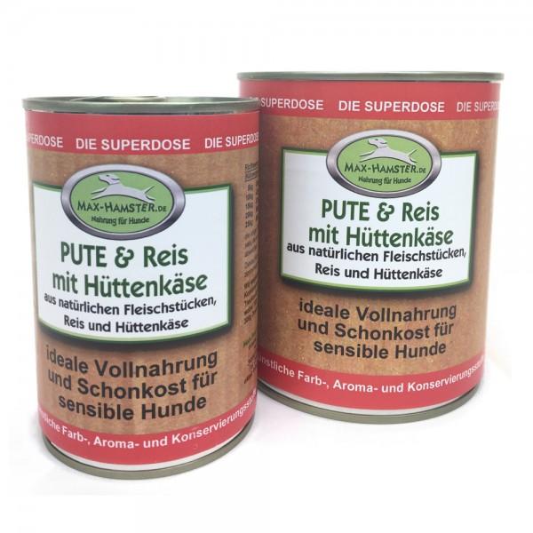 Pute und Reis mit Hüttenkäse Premium Dosenmenü