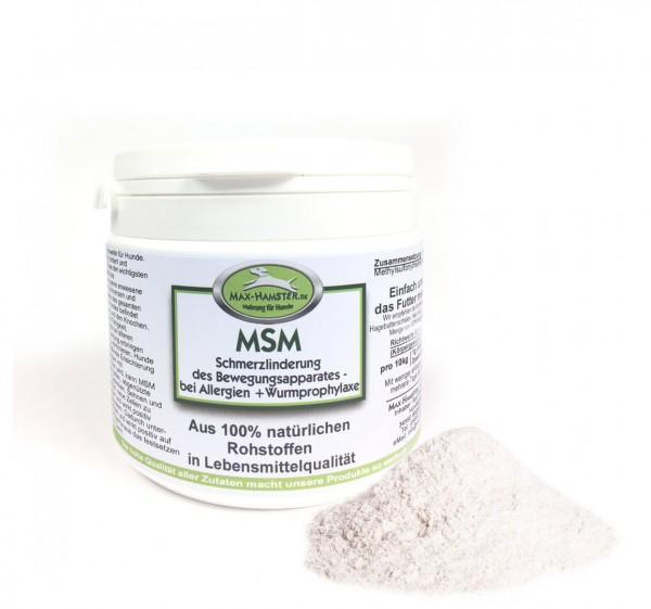 MSM 250g Schmerzlinderung des Bewegungsapparates - bei Allergien sowie Wurmprophylaxe von Max Hamste