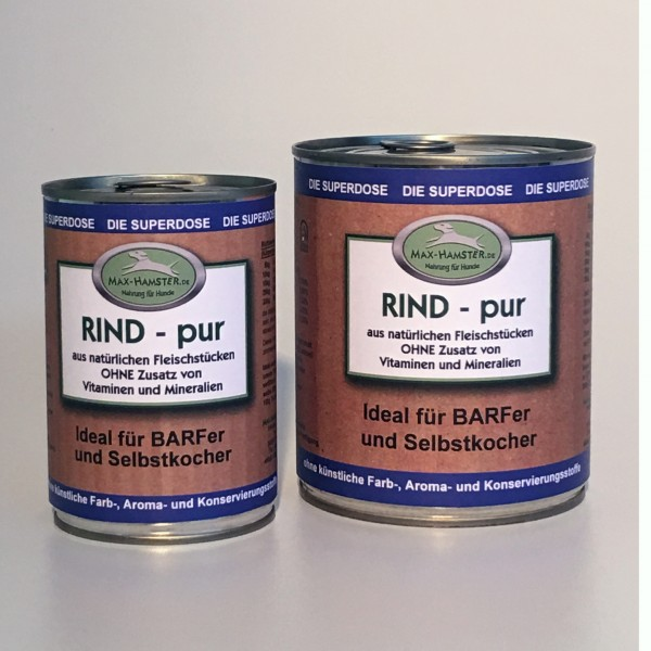 Rind - pur Premium Dosenfleisch OHNE Zusätze