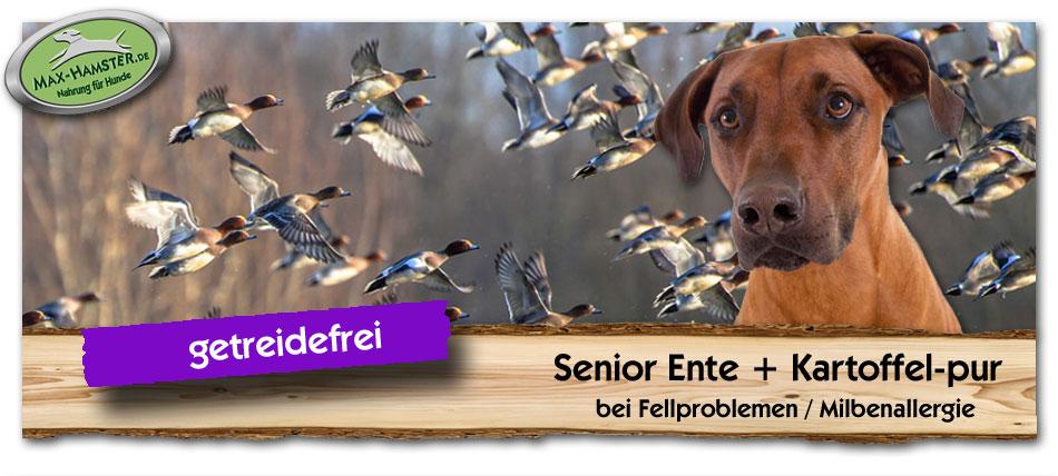 Hundefutter-Senior-Ente-Kartoffel-pur-Max-Hamster