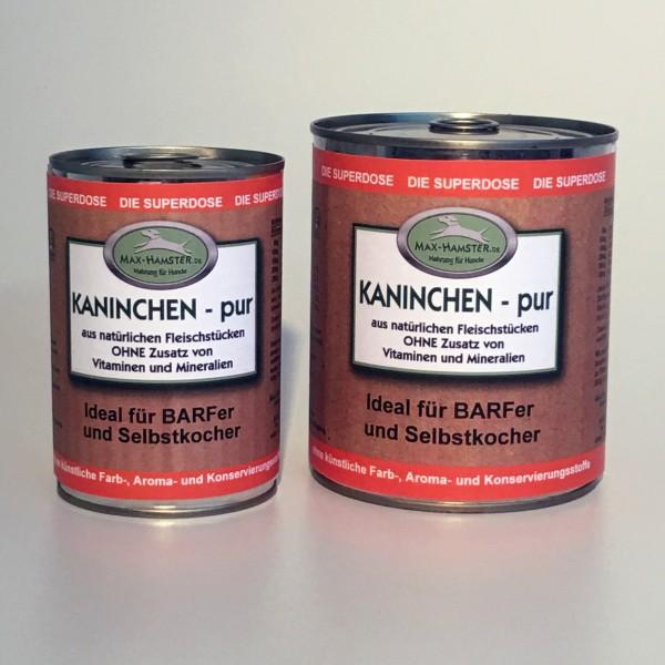 Kaninchen - pur Premium Dosenfleisch OHNE Zusätze