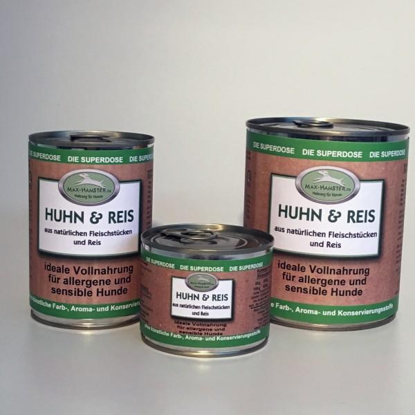 Huhn und Reis Premium Dosenmenü