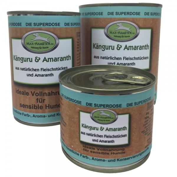 Känguru und Amaranth Premium Dosenmenü