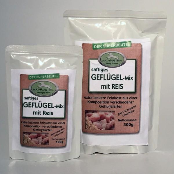 Geflügel-Mix mit Reis - Premium-Feinkost
