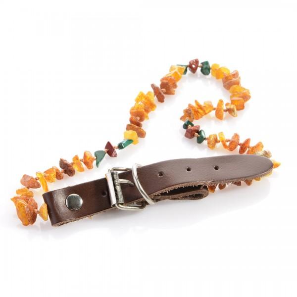 Bernstein-Halsband mit Heilsteinen
