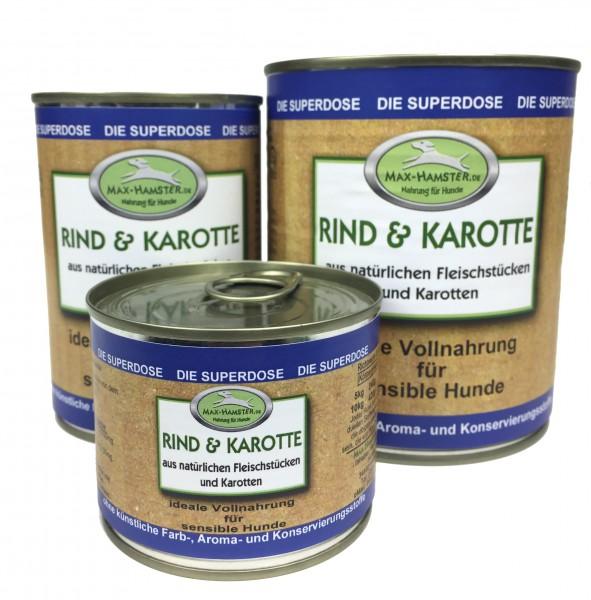 Rind und Karotte Premium Dosenmenü
