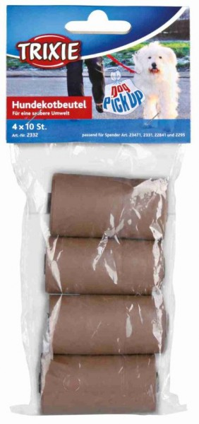 Hundekotbeutel aus Maisstärke: 4Rollen à 10St.